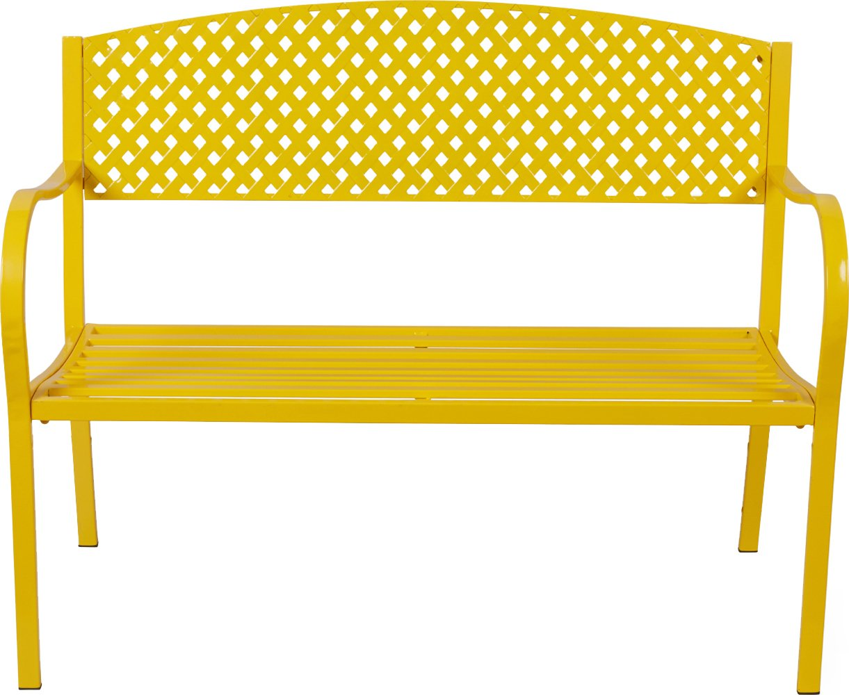 Terra Verde Home 2-Person Steel Settee, Yellow
