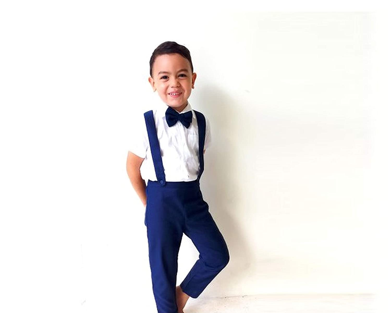 Boy Linen Suit - Navy / 7Pcs Boy Suit/Pageboy Outfit/Ring bearer