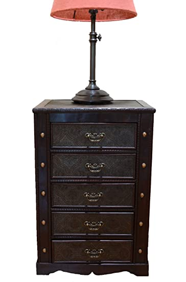 brand new 6a452 f7168 Decorative New England Night Stand with Drawers Treasure Chest Trunk
