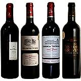 CH.モンペラ入り 神の雫掲載 他の3本も同格同地域 格上コート・ド・ボルドー 飲み比べ 金賞 赤ワイン4本セット 750ml 4本