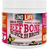 LonoLife Thai Curry Beef Bone Broth Powder with 10g Protein, Paleo and Keto Friendly, 8-Ounce Bulk Container