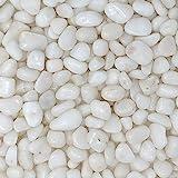 "Midwest Hearth Natural Decorative Polished White Pebbles 3/8"" Gravel Size (10-lb Bag)"