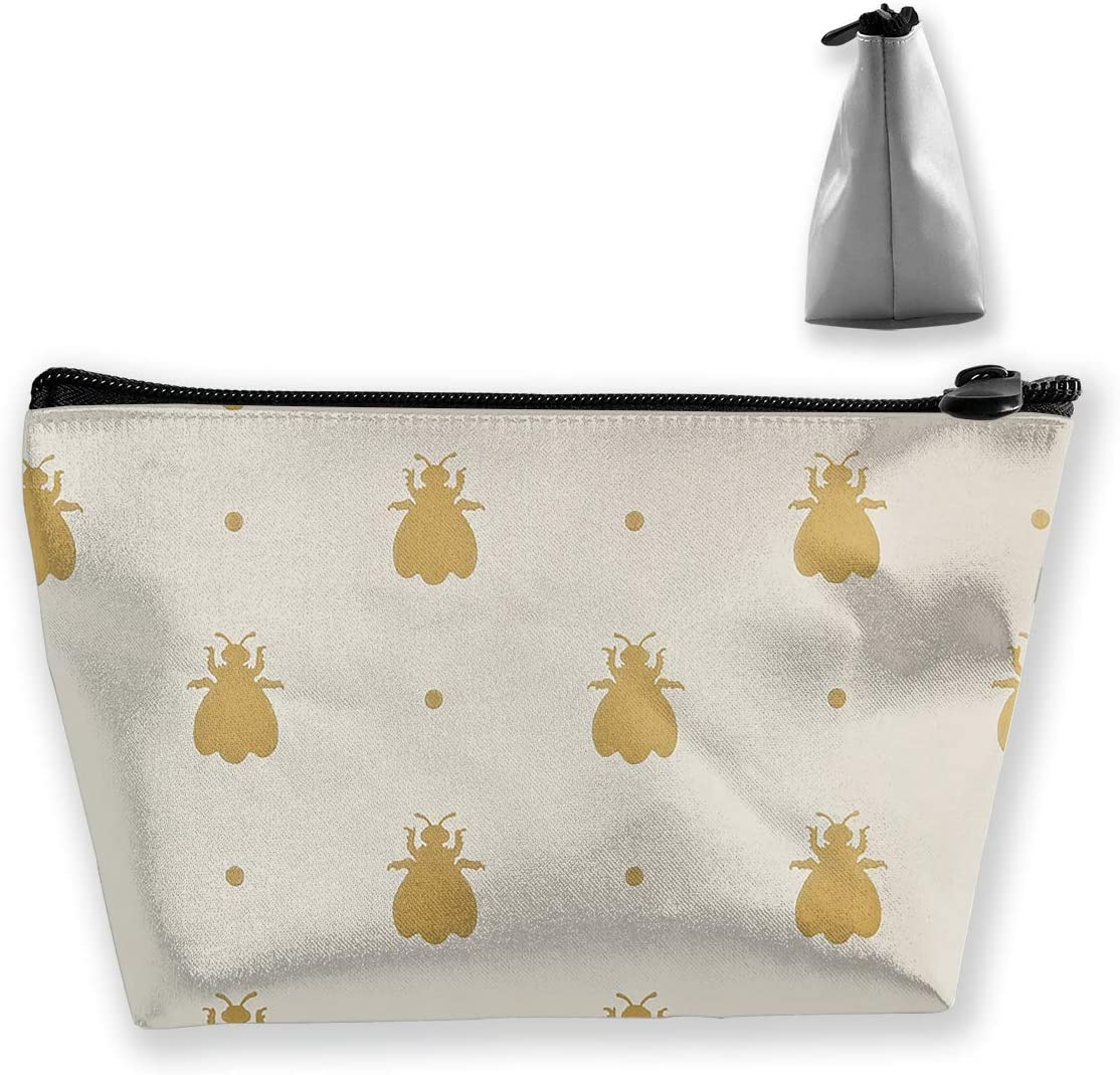 Make Up Bag,Cellphone Bag With Handle Bumblebee Pattern Zipper Canvas Coin Purse Wallet