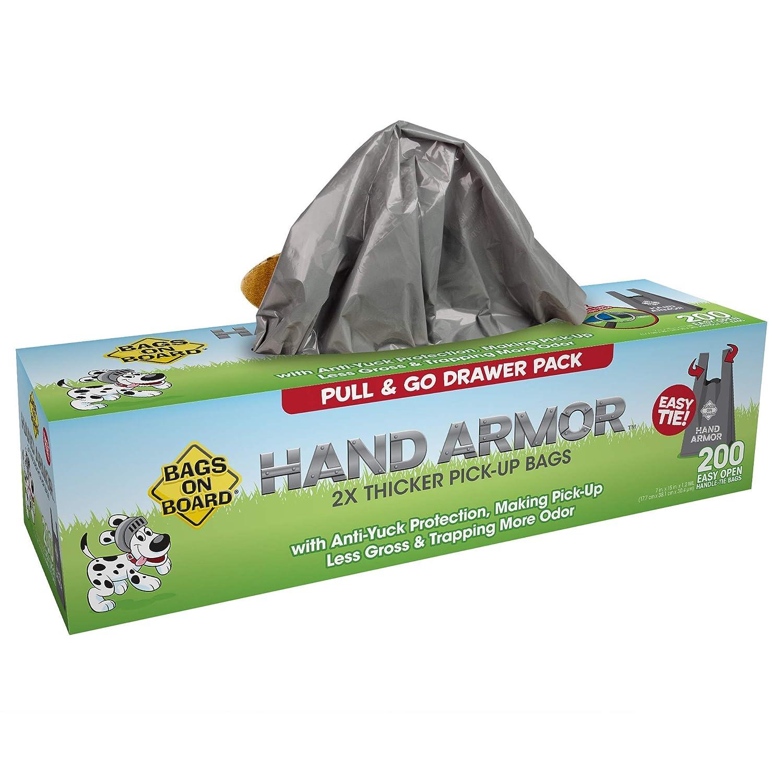 Paquete de 100 Bags on Board Armadura de Mano Extra Grueso Perro Poop Pick-up