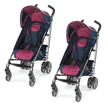 41e35c478 Amazon.com : Chicco Liteway Plus 2-in-1 Car Seat Converting Stroller,  BlackBerry (2 Pack) : Baby