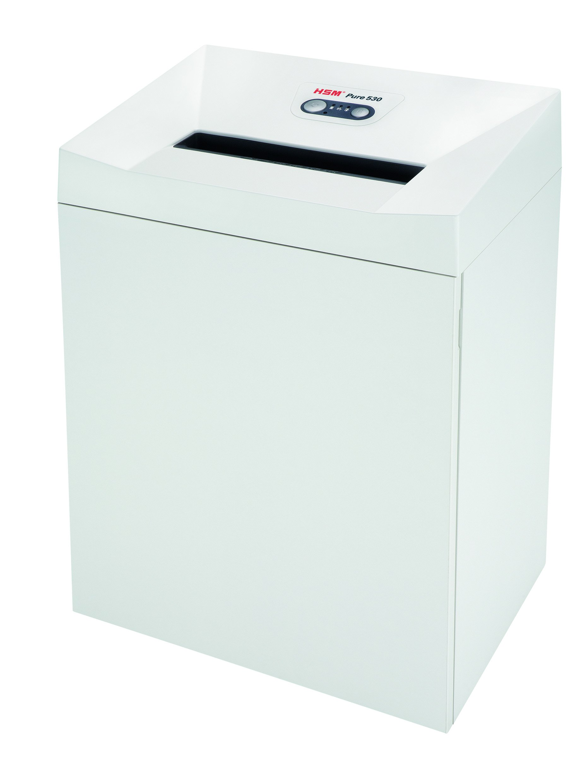 HSM Pure 530 Strip-Cut Shredder; shreds up to 30 sheets; 21-gallon capacity