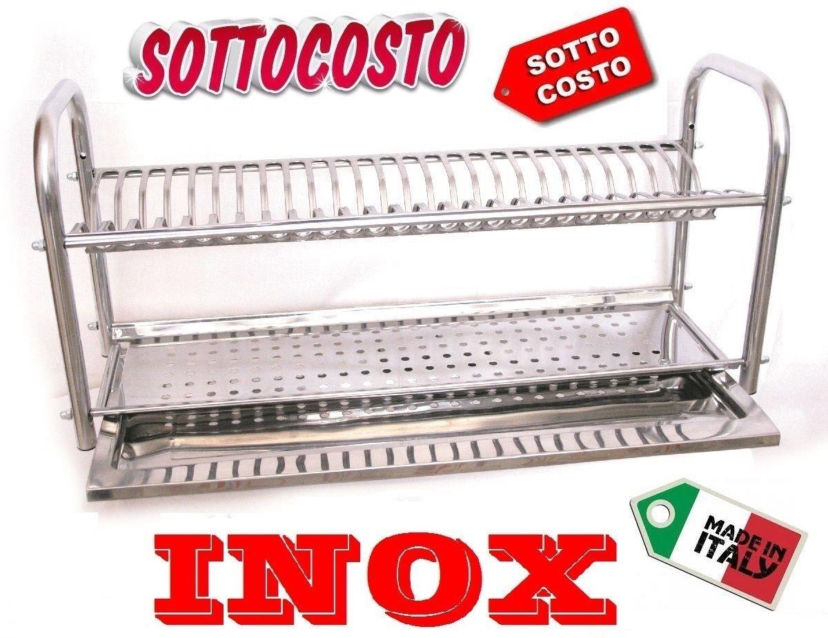 IDOR STORE SCOLAPIATTI COLAPIATTI BASE O APPOGGIO IN ACCIAIO INOX DA 60 CON RACCOGLIGOCCE AZ INOX