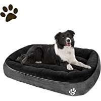 CLOUDZONE Large Dog Bed for Large/Medium/Small Dogs Thickened Enough Pet Bed with Machine Washable Soft Coral Fleece and…