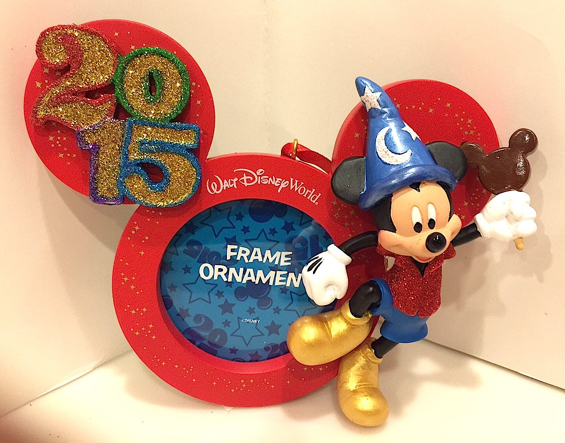 amazoncom disney parks 2015 mickey mouse frame holiday ornament new home kitchen - Disney World Picture Frames