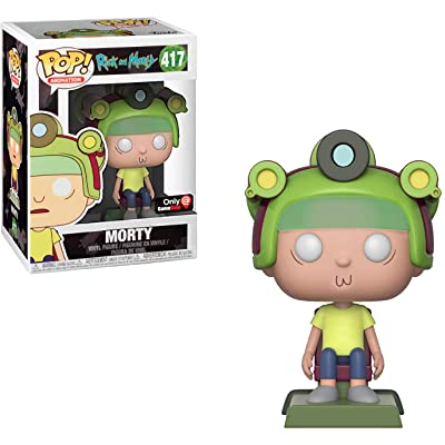 Funko Morty (GameStop Exclusive): Rick & Morty x POP! Animation Vinyl Figure & 1 POP! Compatible PET Plastic Graphical Protector Bundle [#417 / 33989 - B]: Toys & Games