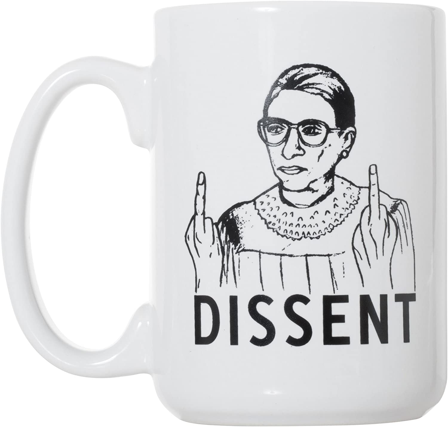 Ruth Bader Ginsburg I Dissent Coffee Mug Notorious RBG Ceramic Cup Gift For F...