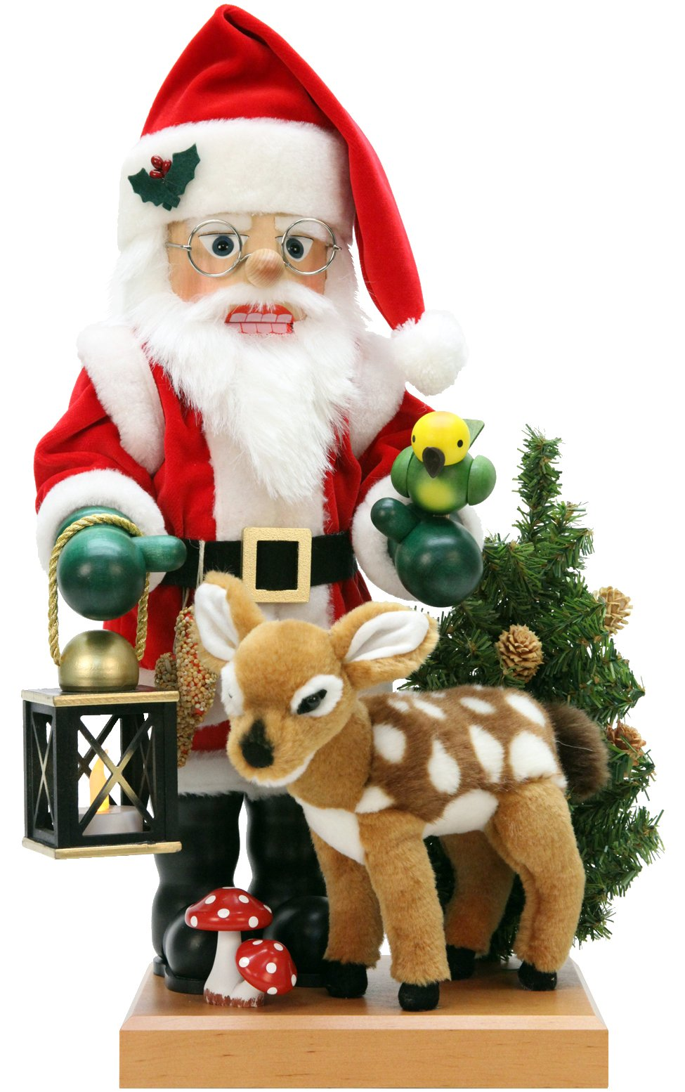 0-476 - Christian Ulbricht Nutcracker - Santa and Bambi - 18''''H x 8.5''''W x 9''''D