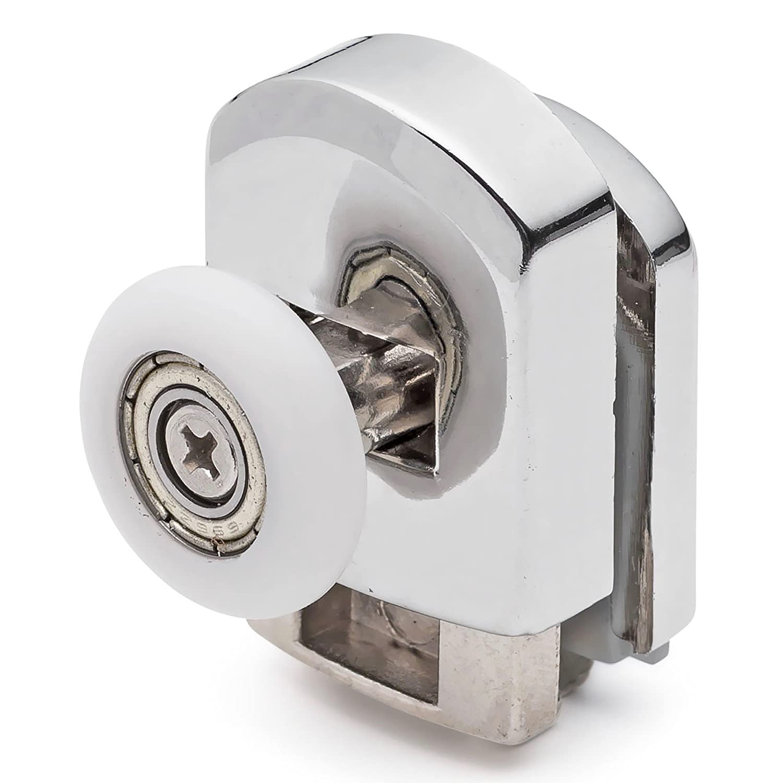 2 x Chromeplate Single Top//Up Shower Door Rollers//Runners 22mm wheels dia SS1