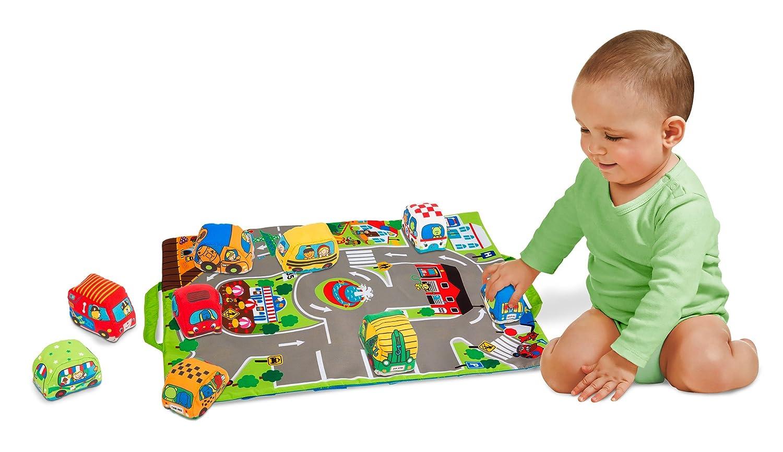 Melissa & Doug Take-Along Town Play Mat (48.90 x 36.20 cm) With 9 Soft Vehicles Melissa and Doug 9214