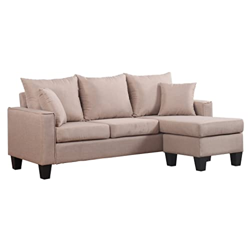 Sectional Sofa Couch Reversible Chaise Ottoman Furniture: Small Sectionals For Apartments: Amazon.com
