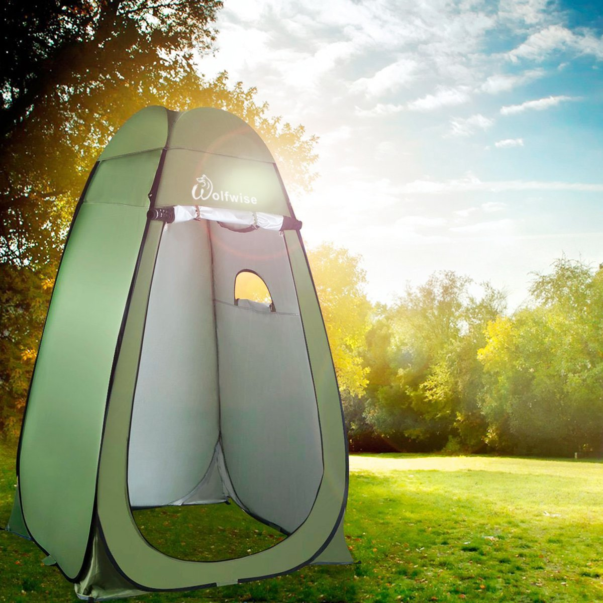 Shower Toilet Beach and Changing Room WolfWise Pop Up Privacy Shower Tent Portable Camping Biking