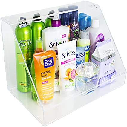 Sorbus - Organizador de almacenamiento y expositor acrílico para maquillaje y cosméticos, brochas, perfumes