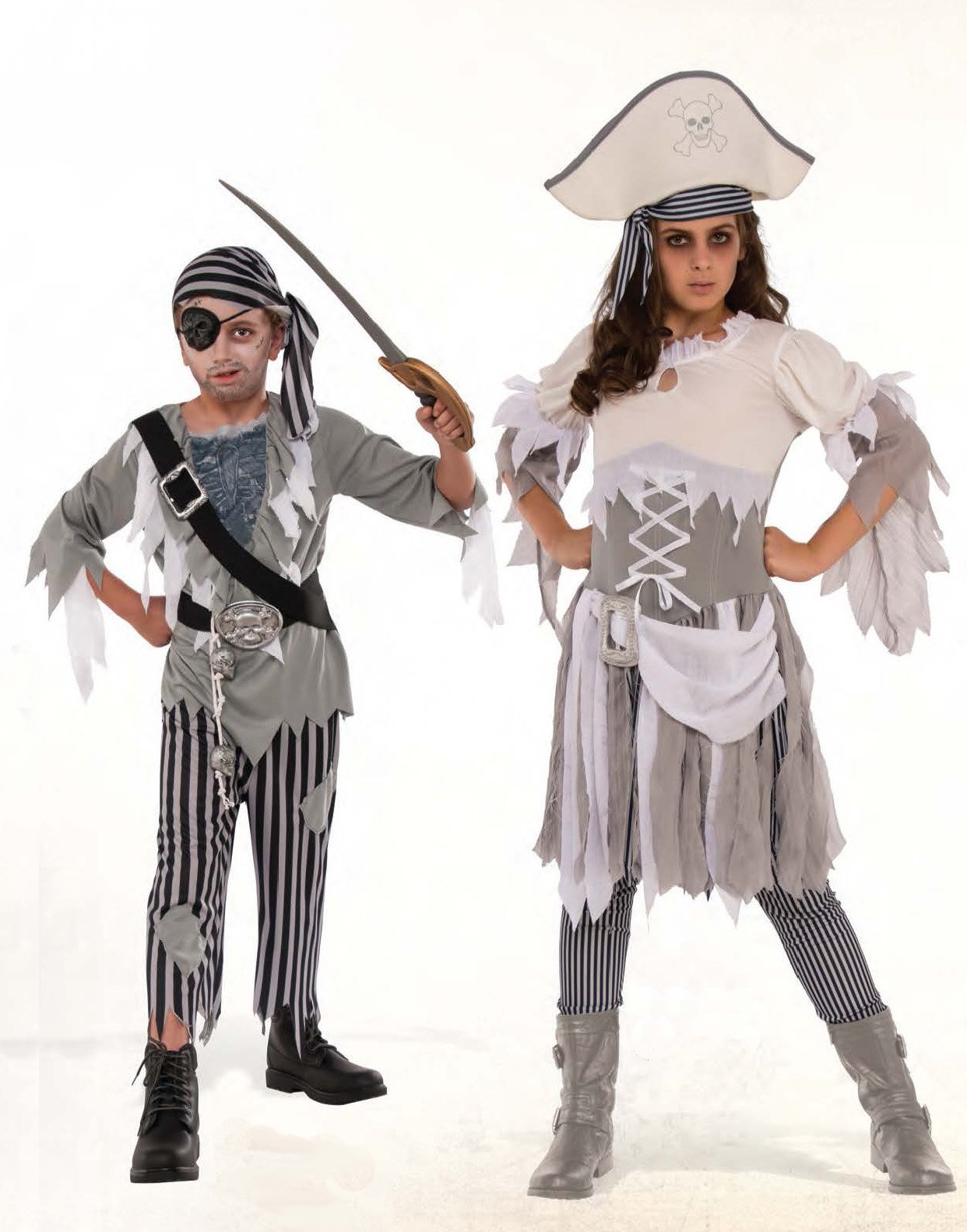 Rubies Child's Ghostly Boy Pirate Costume, Small, Multicolor by Rubies Costume (Image #2)