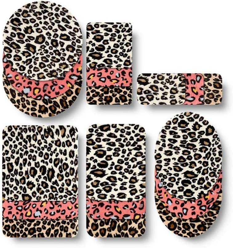 HEALLILY Iron On Patches Leopard Patches Elbow Knee Appliques DIY Cloth Patches for Jeans Clothes Pants Jackets Sewing Repairing 18pcs