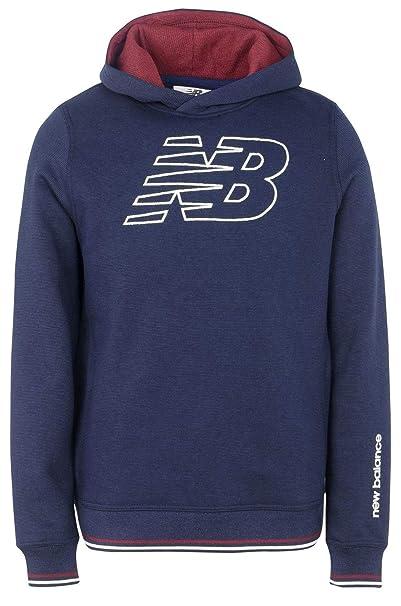 4fcdde7c94 NEW BALANCE Sportswear NB17W201-70 Felpa Uomo Logo con Cappuccio 100 ...