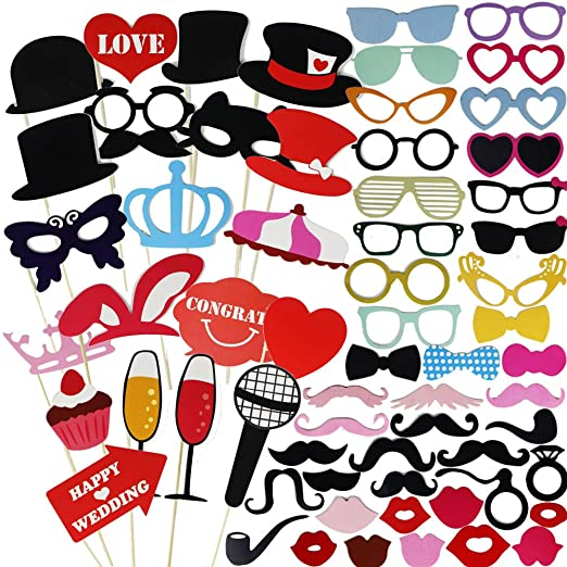 46 opinioni per Goodlucky365 75 Pezzi Photo Booth Prop DIY Kit Photo Booth Laurea Photo Booth