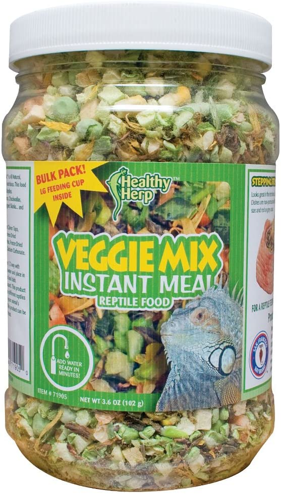 Healthy Herp Veggie Mix Instant Meal 3.6-Ounce (102 Grams) Jar
