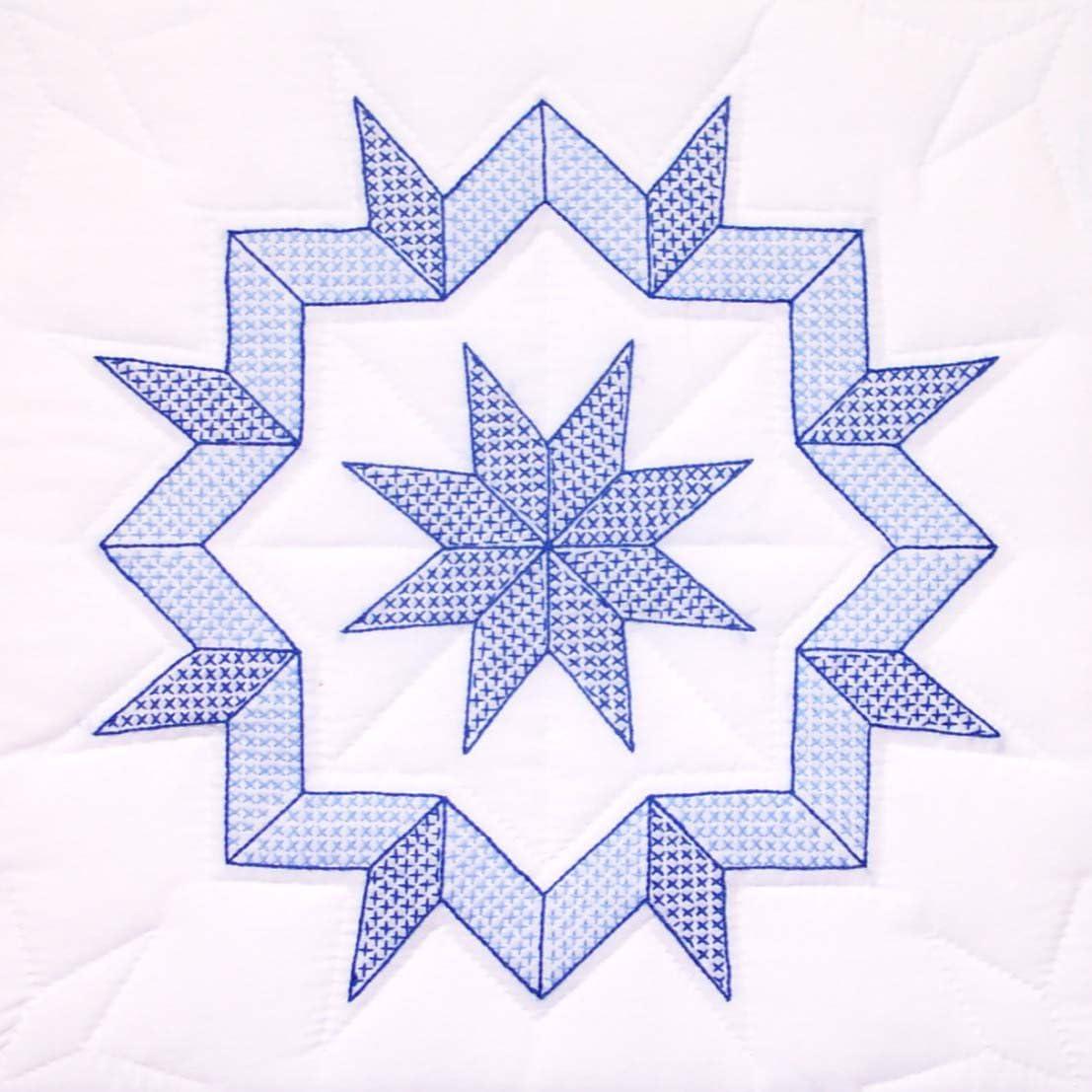 Jack Dempsey Needle Art 732293 Interlocking Hummingbird Quilt Blocks 6 18-Inch