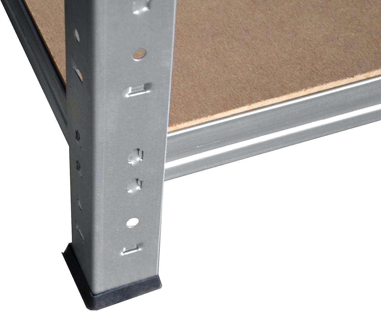 entrep/ôts garage grenier atelier maison shelfplaza/® HOME /Étag/ère charge lourde m/étallique galvanis/é de 200x75x40 cm avec 6 tablettes