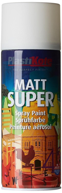 Plasti-kote 3100SE 400ml Super Matt Spray Paint - White 5040603-HHW B001GU8B18