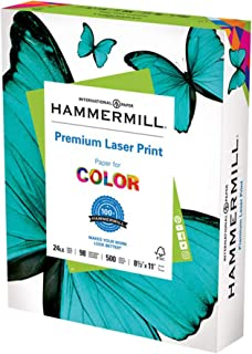 product image for Hammermill Printer Paper, Premium Laser Print 24 lb, 8.5 x 11-1 Ream (500 Sheets) - 98 Bright, Made in the USA