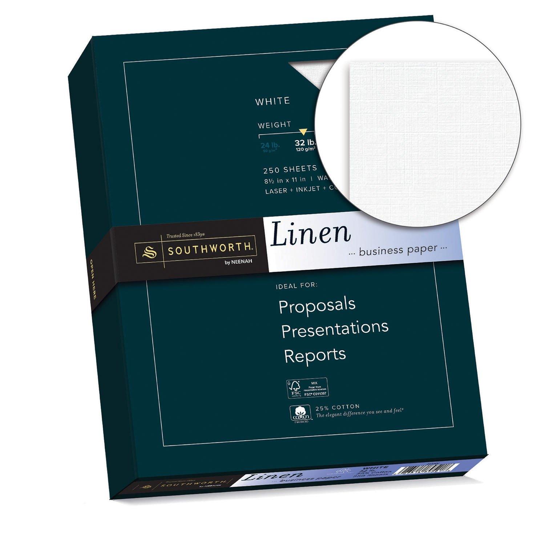 amazon com southworth 25 cotton linen business paper 8 5 x 11