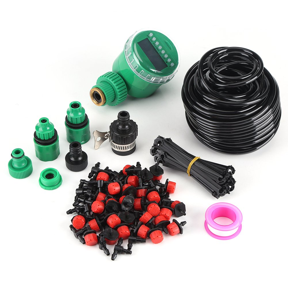 25 m Plant Self-Watering Garden Hose, DIY Micro Drip Irrigation System with Timer Kits Fdit