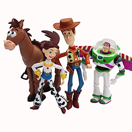Amazon.com: AZOKER 4pcs/set Anime Toy Story 3 Buzz Lightyear ...