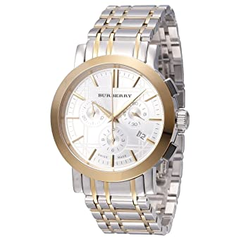 Amazon.com  Mens Watch Burberry BU1374 Two Tone Stainless Steel Case ... 10ea0259b77