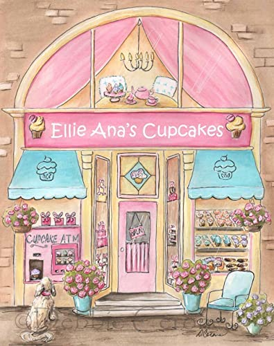 Amazon.com: Cupcake Wall Art, Personalized Gift For Girl, Pink ...
