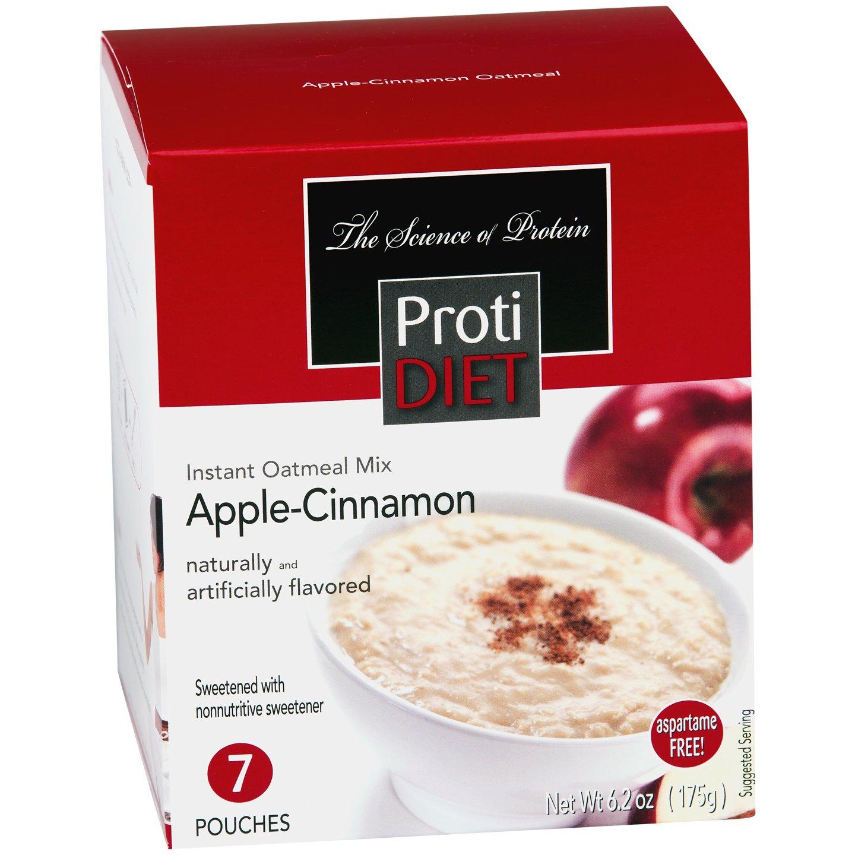 ProtiDiet High Protein Oatmeal - Apple Cinnamon (7 Servings/Box)