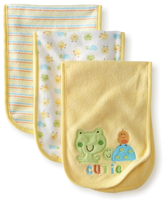 Gerber Unisex-Baby 3 Pack Terry Burpcloths Frog