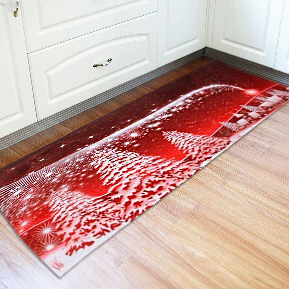 Un tappeto natalizio per la cucina