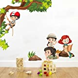 Rawpockets Kids Activity' Wall Sticker (PVC Vinyl, 100 cm x 85cm, Multicolour)