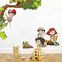 Rawpockets Kids Activity' Wall Sticker (PVC Vinyl, 100 cm x 85cm, Multicolour)