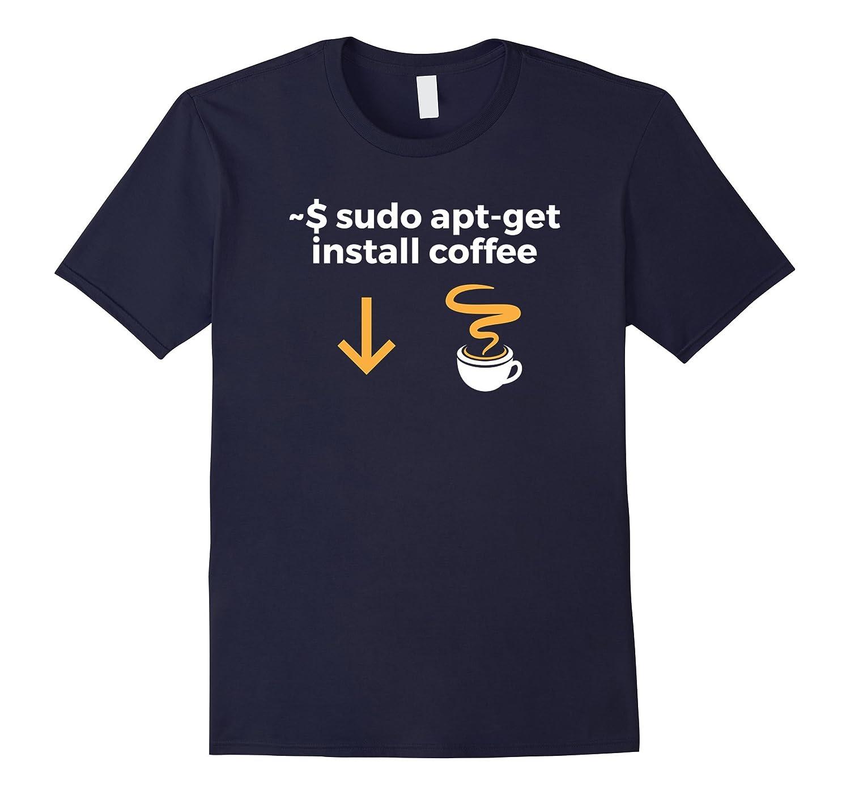 Install Coffee Funny Programmer T-Shirt-Vaci