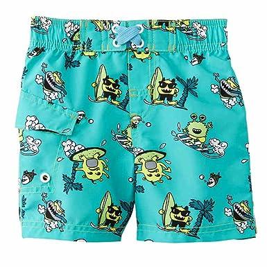 b458e5402656e Amazon.com: Joe Boxer Infant Boys Blue Green Surf Monster Swim ...