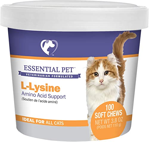 Essential Pet Products L-Lysine Amino Acid Support Soft Chews for Cats