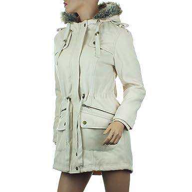 Manteau court ceinture femme