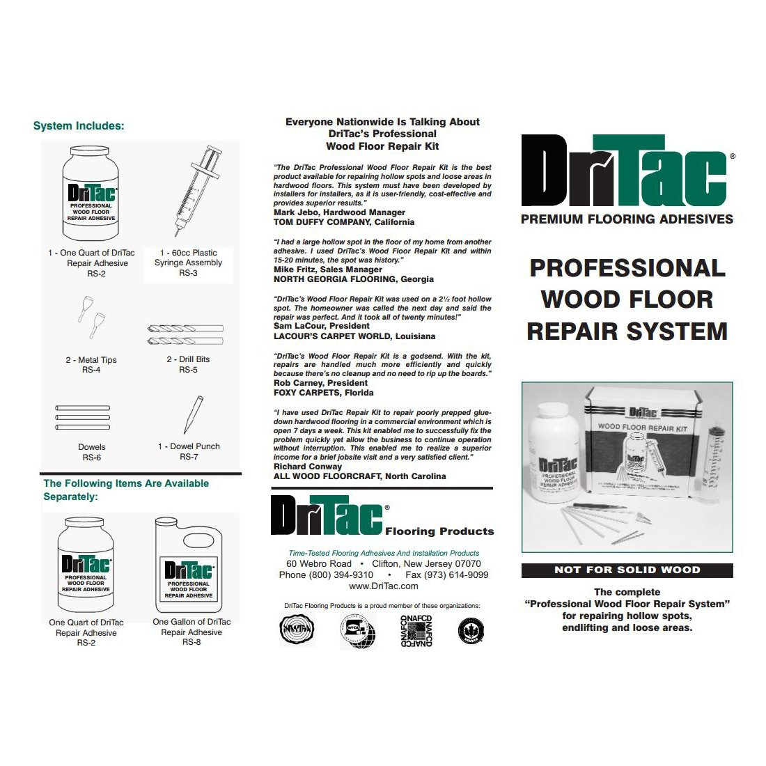 DriTac Wood Floor Repair Kit-Engineered Flooring ONLY: Amazon.co.uk ...
