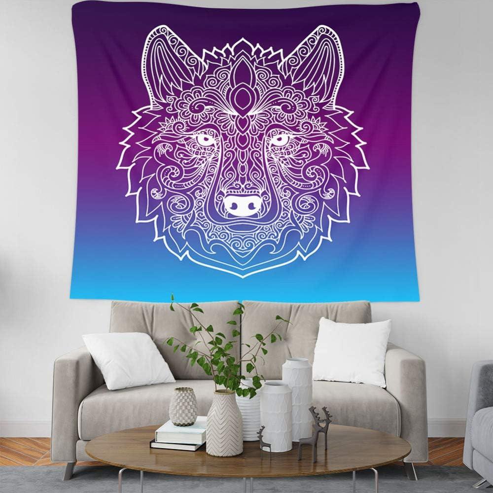 xkjymx Lobo Pintado a Mano tapicería del hogar Colgar en la Pared Toallas de Playa Decorativas Manta de Playa para Sentarse 7 150 100 cm (párrafo de Lijado) *