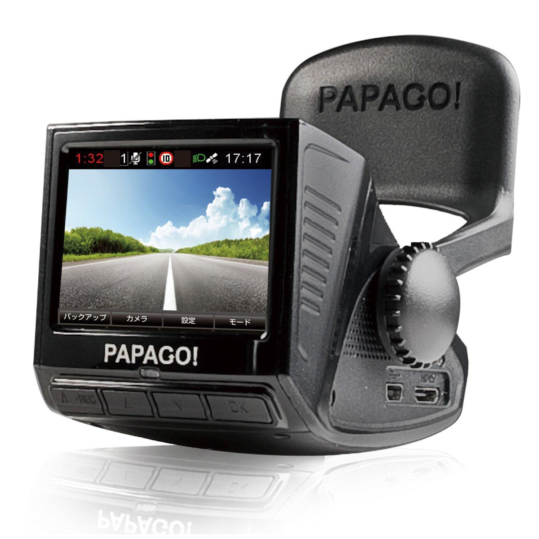 「国内正規販売品」「安心日本語対応」PAPAGO(パパゴ)ドライブレコーダー 前方衝突警報 車線逸脱警報 ブラック GoSafe P2 pro P2PRO-BK-8G B00CRW4LJU