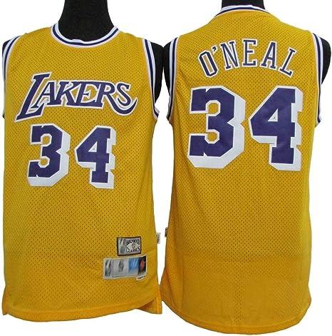 Jersey De La - Jersey Clásico De Estrellas De Los Lakers # 34 ...