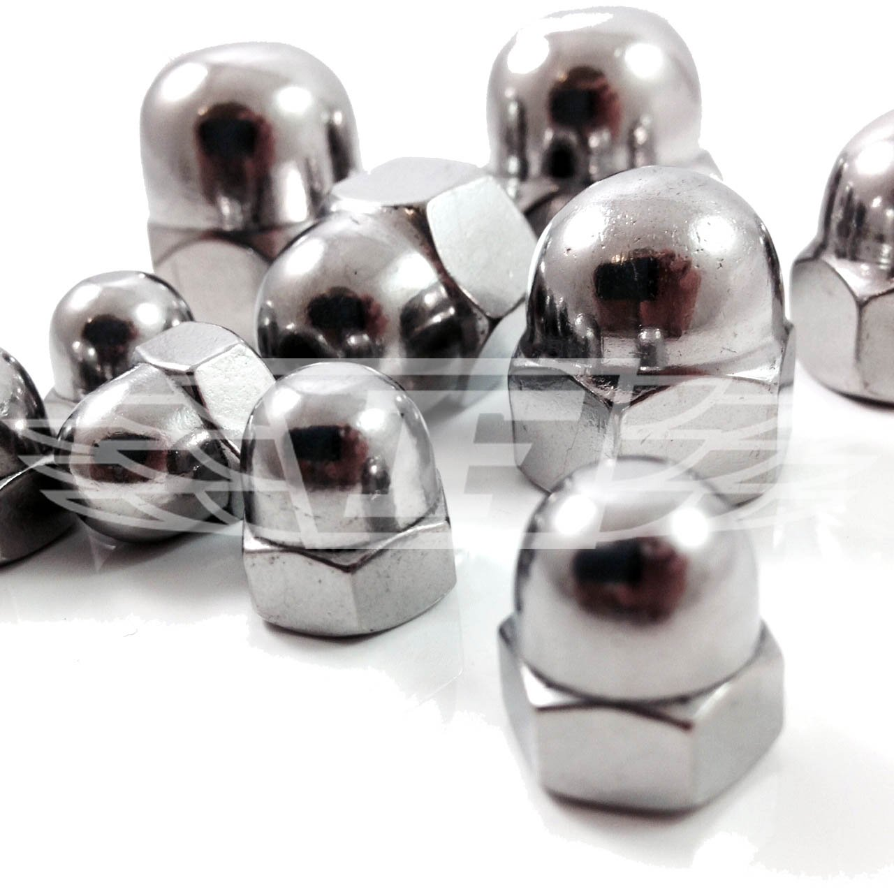 PACK OF 4 x 1/4' UNC A2 STAINLESS DOME COVER NUTS Falcon Workshop Supplies Ltd