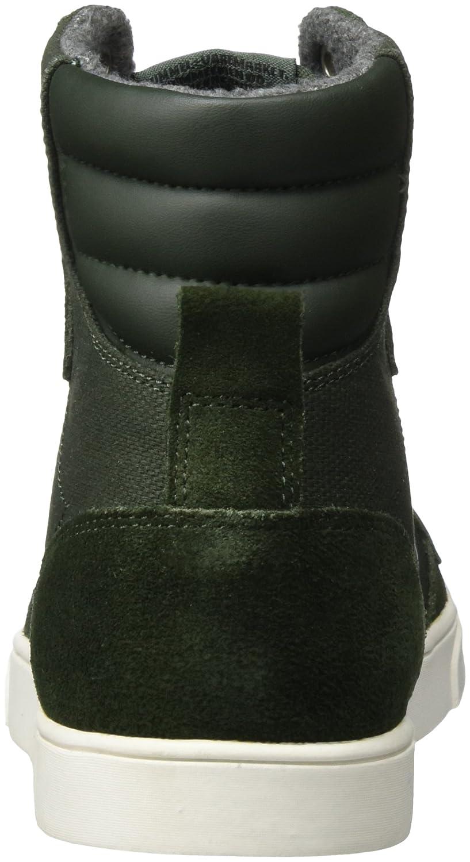 Hummel High-Top-Sneaker Unisex Erwachsene – Slimmer Stadil Smooth Canvas Schuh – Schuh Canvas gewachstes Leinen/Wildleder - Freizeitschuh Div. Farben - Turnschuh Cup Sohle Grün (Rosin) fdf672